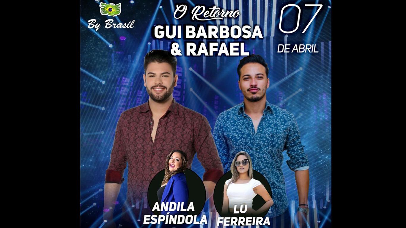 Dupla Gui Barbosa e Rafael anunciam retorno aos palcos neste sábado (07)